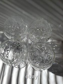 Waterford Crystal Lismore Balloon Wine Glass set 4