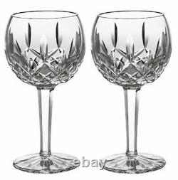 Waterford Crystal Lismore Balloon Wine SET/2 Glasses #156516 New In Box
