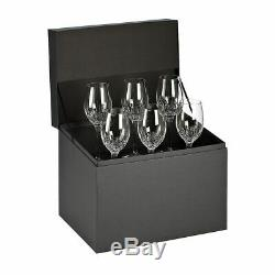 Waterford Crystal Lismore Essence White Wine Glasses Set of 6, Original Box