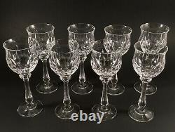 Waterford Crystal Lismore Hock Wine Goblets 5 Inch Set Of 8 Excellent