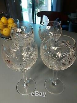 Waterford Crystal MILLENNIUM SERIES BALLOON WINE GOBLETS SET OF 4