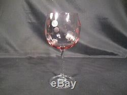 Waterford Crystal Marquis Collection Polka Dot Wine Glasses Set of 4