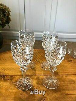 Waterford Crystal Powerscourt Claret Wine Glasses Set of 4