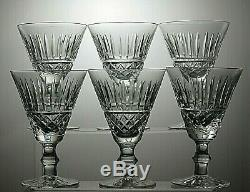 Waterford Crystal Tramore Cut Claret Wine Glasses Set Of 6- 5 1/4 Tall-signed