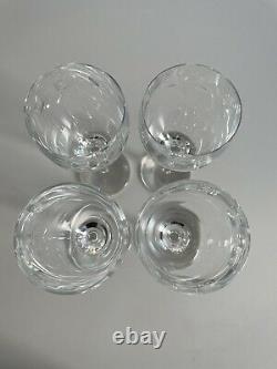 Waterford Crystal Wine Glasses John Rocha Geo Design Set of 4