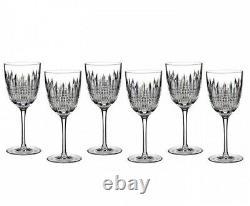 Waterford Lismore Diamond Goblet Set of 6 Glasses 40003648 New
