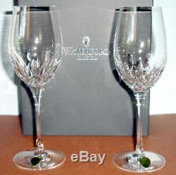 Waterford Lismore Essence White Wine Set of 2 Glasses #143782 New In Box