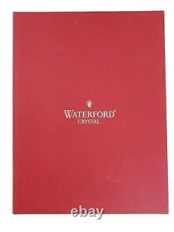 Waterford Set 2 Happy Holidays Ruby Red Cut Crystal Champagne Flutes Cased Box