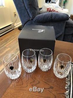 Waterfordsouthbridge Crystalstemless Wine Glassesverreset Of 4 Nib40030932