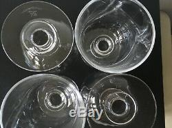 William Yeoward Crystal Water Goblets Wine Glasses Set of Four 4 Holiday Dinner