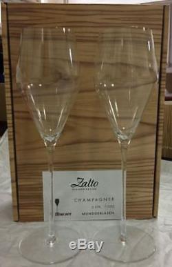 Zalto Denk Art Champagne Set of 2 wine glasses authentic new 11552